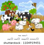 how many animals. counting... | Shutterstock .eps vector #1104919451