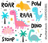 vector collection of cute... | Shutterstock .eps vector #1104920381