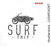 surf trip concept summer... | Shutterstock . vector #1104924287
