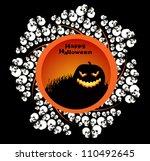 halloween background. vector... | Shutterstock .eps vector #110492645
