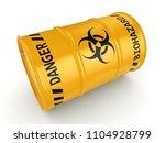 3d rendering yellow barrel with ... | Shutterstock . vector #1104928799