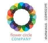 colorful flower logo  symbol ... | Shutterstock .eps vector #1104932195