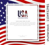 patriotic american poster with... | Shutterstock .eps vector #1104932981