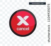 cancel vector icon isolated on...   Shutterstock .eps vector #1104935075
