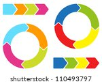 colorful arrows | Shutterstock .eps vector #110493797