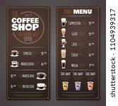 coffee shop menu vector design...   Shutterstock .eps vector #1104939317