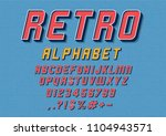 vector of retro font and... | Shutterstock .eps vector #1104943571