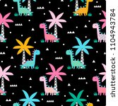 childish seamless pattern with... | Shutterstock .eps vector #1104943784