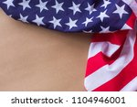 4th american flag background... | Shutterstock . vector #1104946001