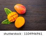 fresh and beautiful mango fruit ... | Shutterstock . vector #1104946961