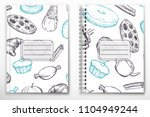 notebook and book editable... | Shutterstock .eps vector #1104949244
