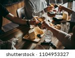 wine and cheese served for a... | Shutterstock . vector #1104953327