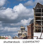 a large industrial structure at ... | Shutterstock . vector #1104954797