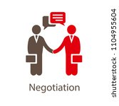 negotiation vector icon.... | Shutterstock .eps vector #1104955604