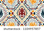 ikat seamless pattern. vector... | Shutterstock .eps vector #1104957857