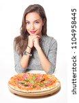 gorgeous young brunette woman... | Shutterstock . vector #1104958445