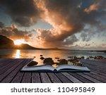 creative composite image of... | Shutterstock . vector #110495849