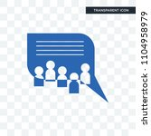 discussion board vector icon... | Shutterstock .eps vector #1104958979