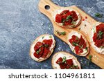 fresh italian sandwiches with... | Shutterstock . vector #1104961811