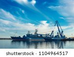 seaport with ships  russia june ...   Shutterstock . vector #1104964517