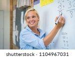 teacher teaching how to count... | Shutterstock . vector #1104967031