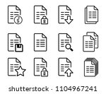vector file icons with folded... | Shutterstock .eps vector #1104967241