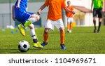 football match for children.... | Shutterstock . vector #1104969671
