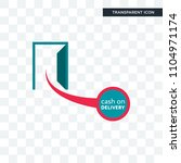 cash on delivery vector icon... | Shutterstock .eps vector #1104971174