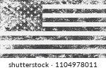 black and white american flag...   Shutterstock .eps vector #1104978011