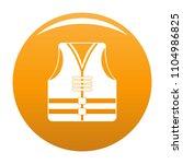 rescue vest icon. simple...   Shutterstock .eps vector #1104986825