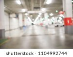 blur cars parking with bokeh... | Shutterstock . vector #1104992744