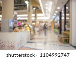 blurred shopping mall background | Shutterstock . vector #1104992747