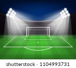football arena field with... | Shutterstock .eps vector #1104993731