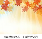 autumn  frame with falling ... | Shutterstock .eps vector #110499704
