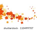 autumn  frame with falling ... | Shutterstock .eps vector #110499707
