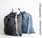 linen drawstring bag full of... | Shutterstock . vector #1104999161
