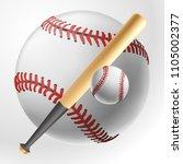 realistic baseball white ball...   Shutterstock .eps vector #1105002377