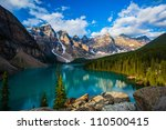 sunrise at moraine lake with in ... | Shutterstock . vector #110500415