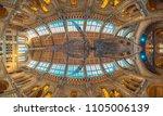 natural history museum  blue... | Shutterstock . vector #1105006139