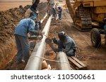 male welder worker wearing... | Shutterstock . vector #110500661