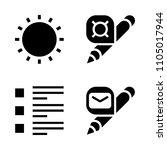 basic icon set. sign  object ...
