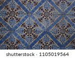 traditional portuguese tiles   | Shutterstock . vector #1105019564