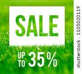 spring sale poster. 35  off... | Shutterstock . vector #1105020119