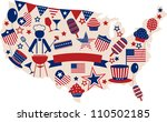 usa vector icons for american... | Shutterstock .eps vector #110502185