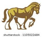shire horse   draft horse  ... | Shutterstock .eps vector #1105022684