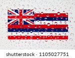 flag of american state hawaii... | Shutterstock . vector #1105027751