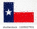 flag of american state texas... | Shutterstock . vector #1105027931