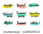 set of hand drawn summer... | Shutterstock .eps vector #1105029314