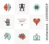 modern flat icons set of... | Shutterstock .eps vector #1105030019