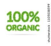 one hundred percent organic...   Shutterstock .eps vector #1105038599